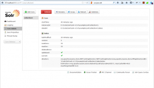 Solr admin screen
