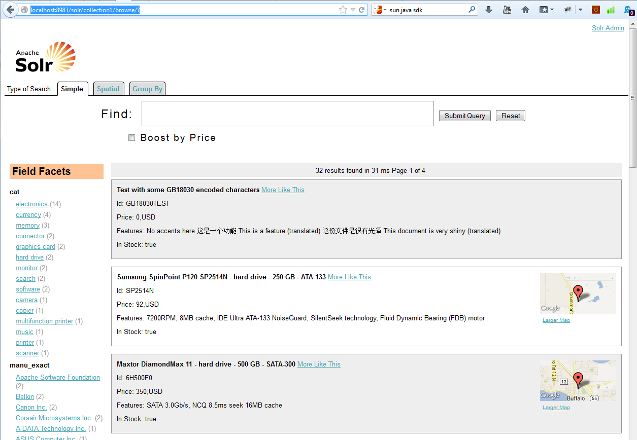 Using apache solr 450 and c part 1 installation and solr example screen baditri Gallery